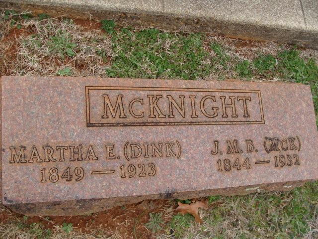 Martha Elizabeth Dink <i>Acker</i> McKnight