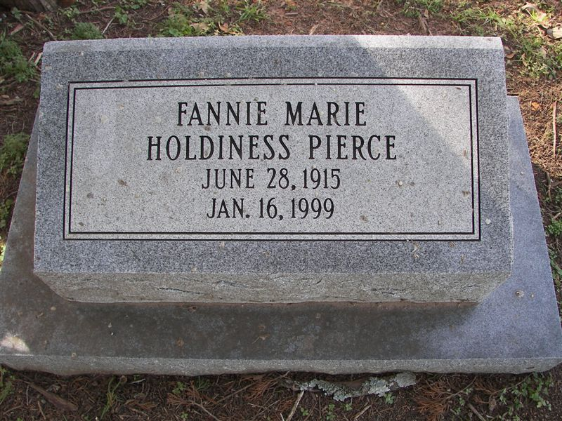 Fannie Marie <i>Holdiness</i> Pierce