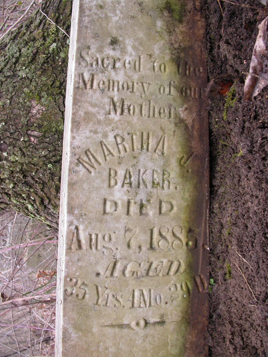 Martha Jane Mattie <i>Matheny</i> Baker