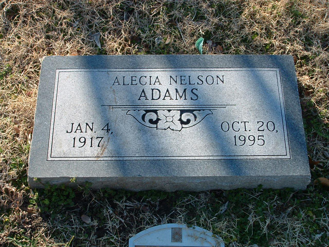 Alecia <i>Nelson</i> Adams