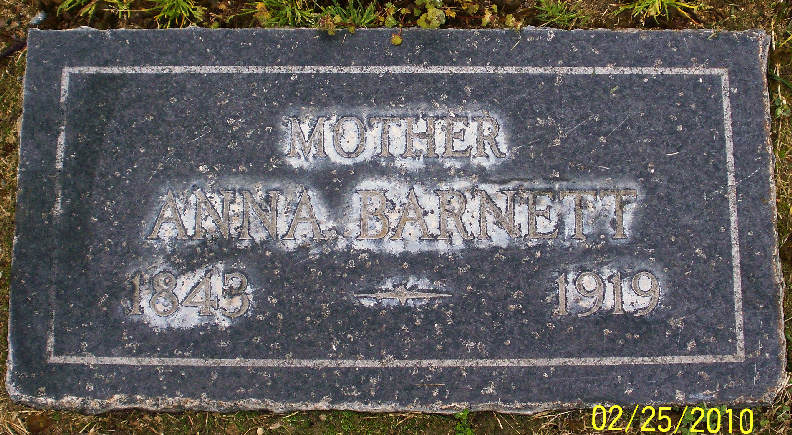 Anna Elizabeth <i>Owens</i> Barnett