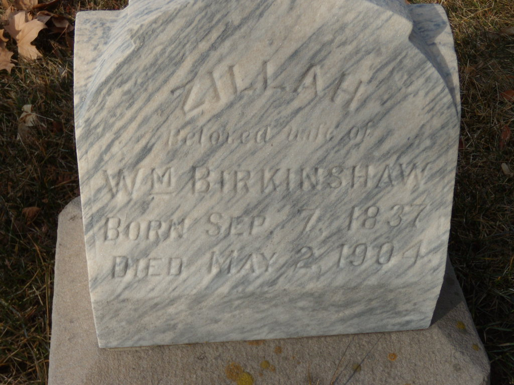 Zillah <i>Greensmith</i> Birkinshaw