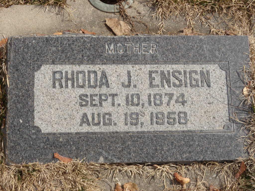 Rhoda Selina <i>Jackson</i> Ensign