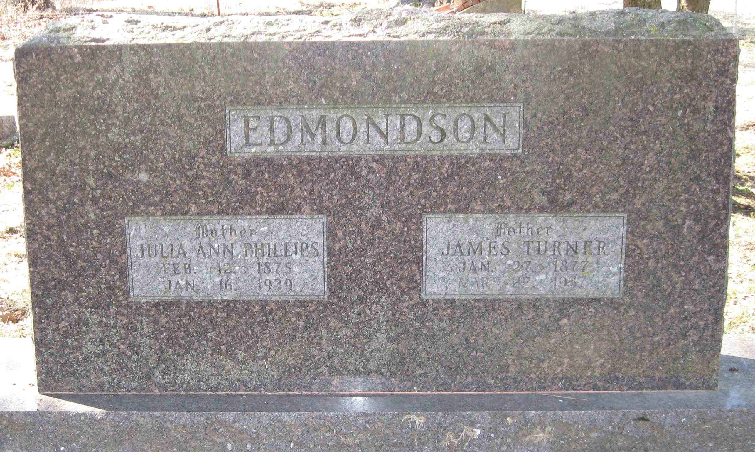 Julia Ann <i>Phillips</i> Edmondson