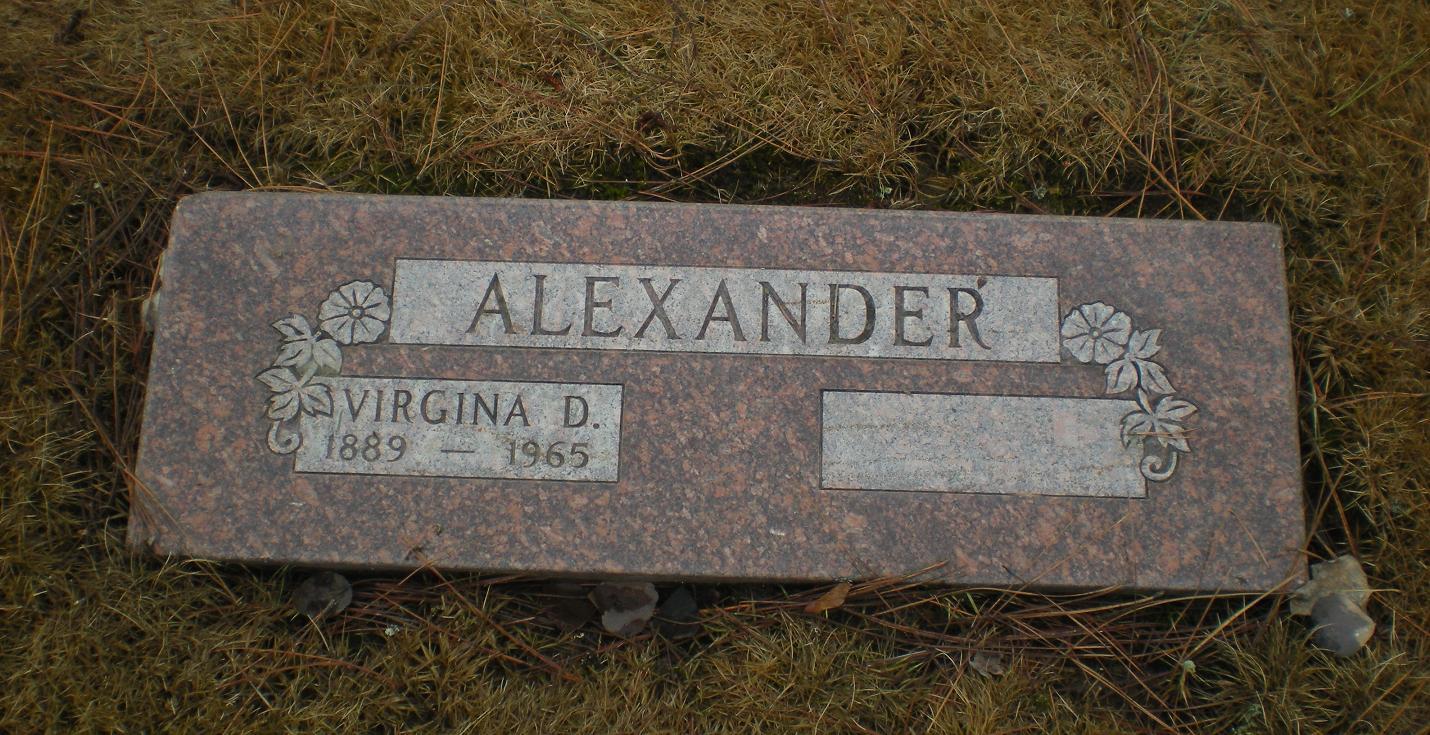 Virginia D Alexander