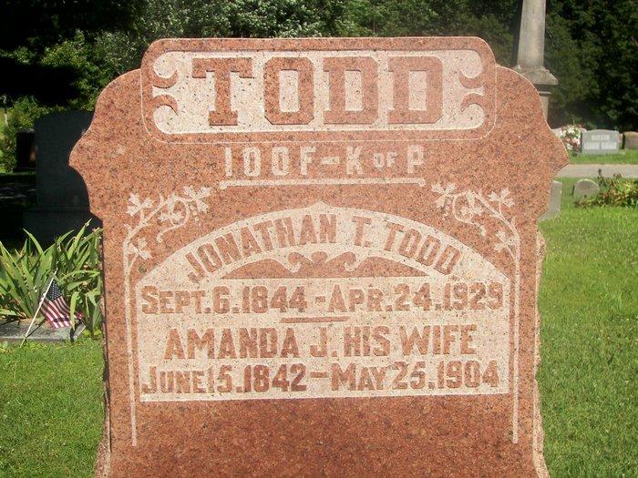 Amanda Jane Browning Todd 1842 1904 Find A Grave Memorial