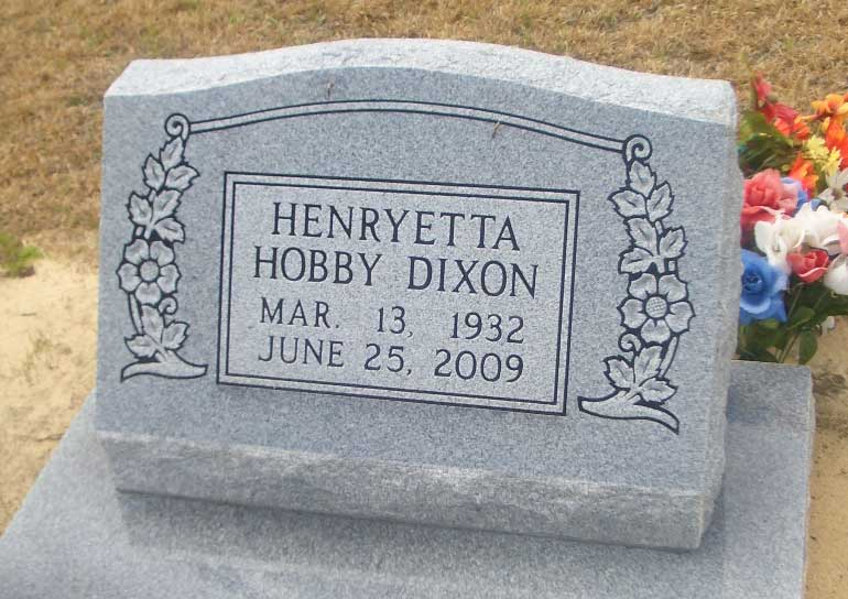 Henryetta <i>Hobby</i> Dixon