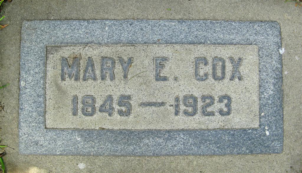 Mary Elizabeth <i>Sherman</i> Cox