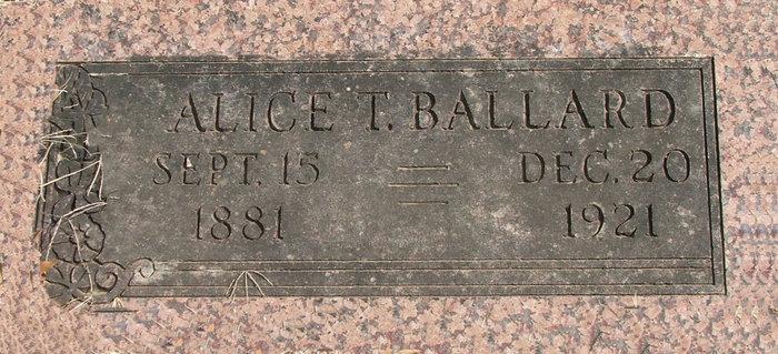 Alice T <i>Payton</i> Ballard