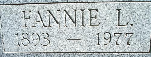 Fannie Lee <i>Conner</i> Bone