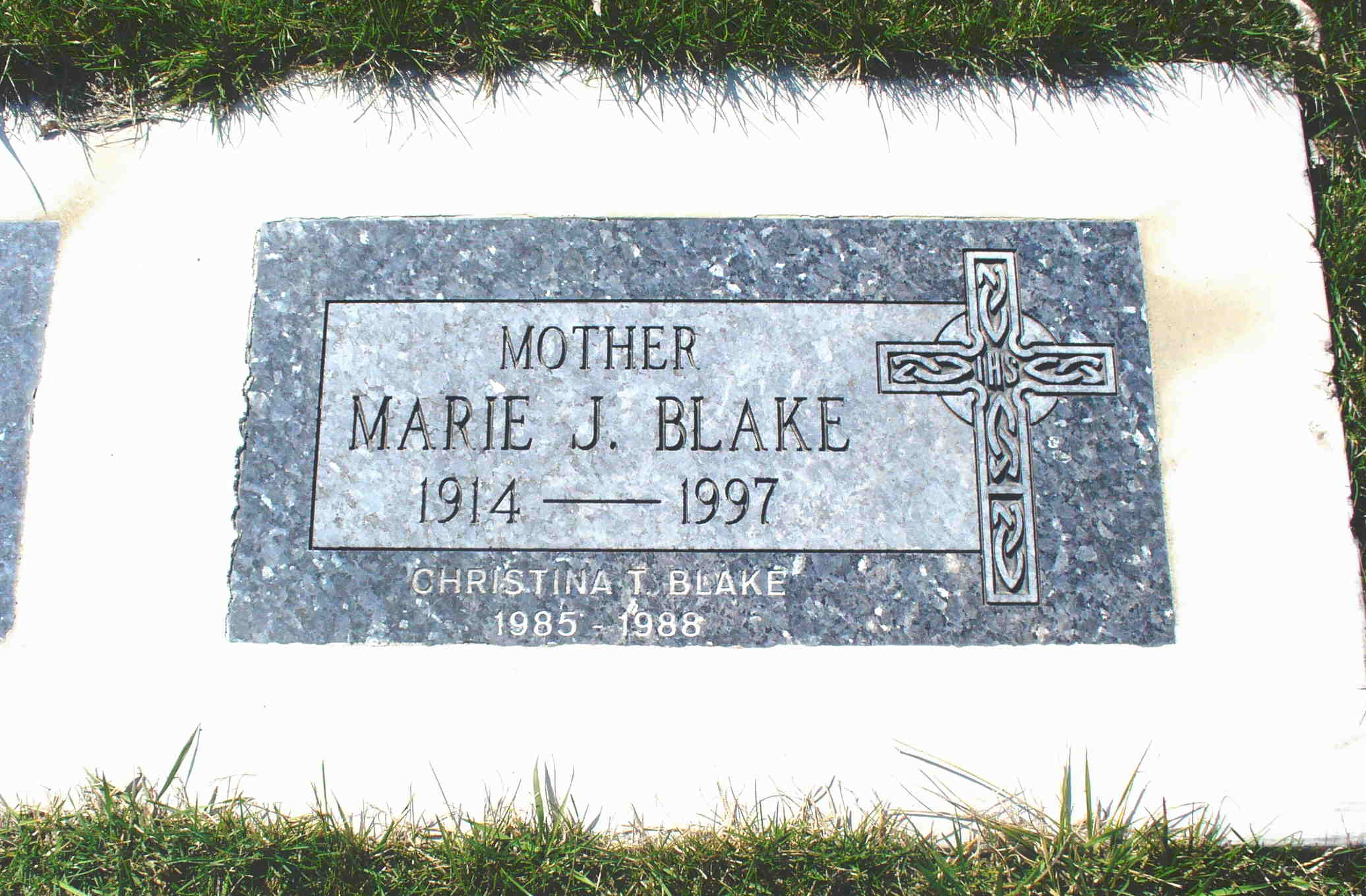 Marie June Agatha <i>Elliott</i> Blake