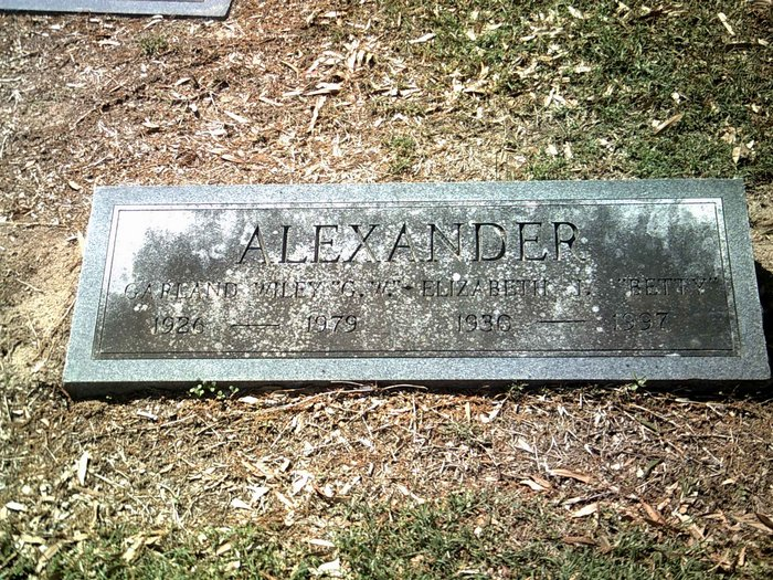 Elizabeth J Betty <i>Monday</i> Alexander