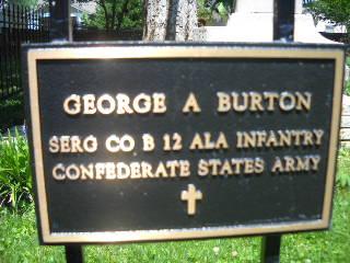 Sgt George A Burton
