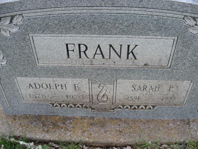 Adolph E Frank