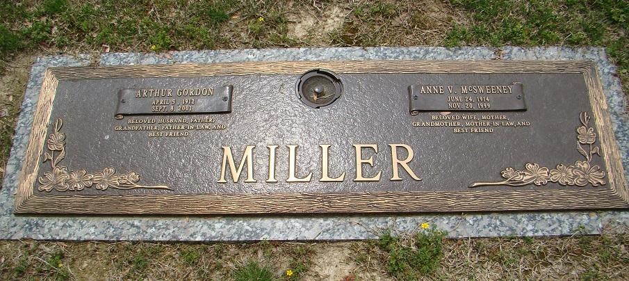 Anne Virginia <i>McSweeney</i> Miller