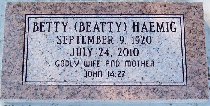 Betty Rae <i>Perkins</i> Haemig