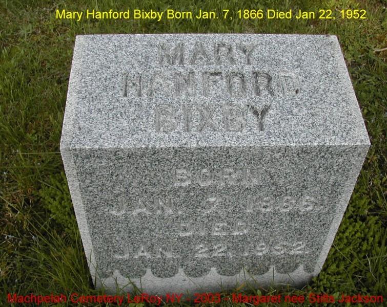 Mary <i>Hanford</i> Bixby