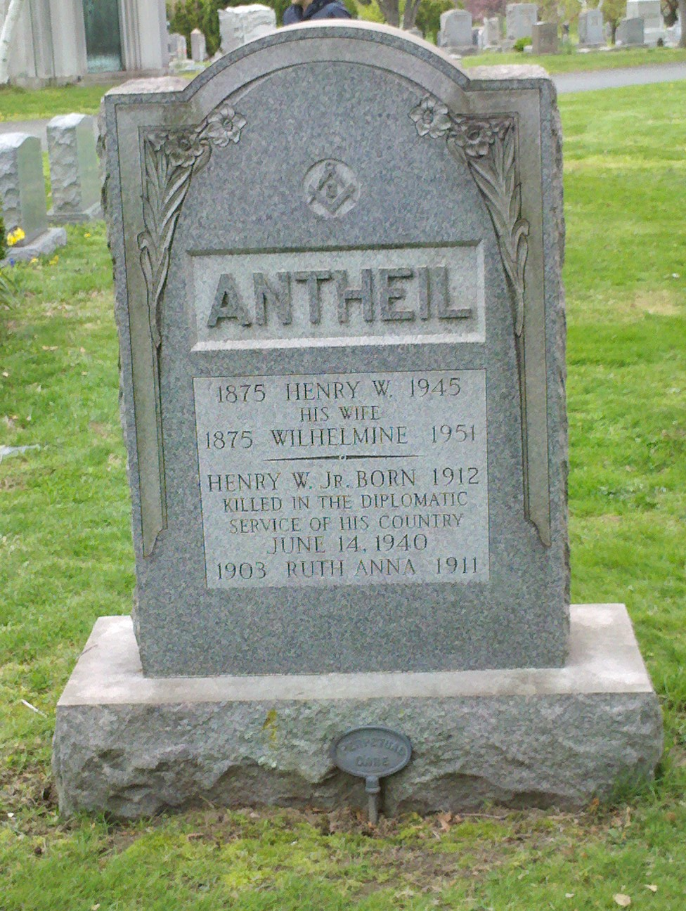 Ruth Anna W Antheil