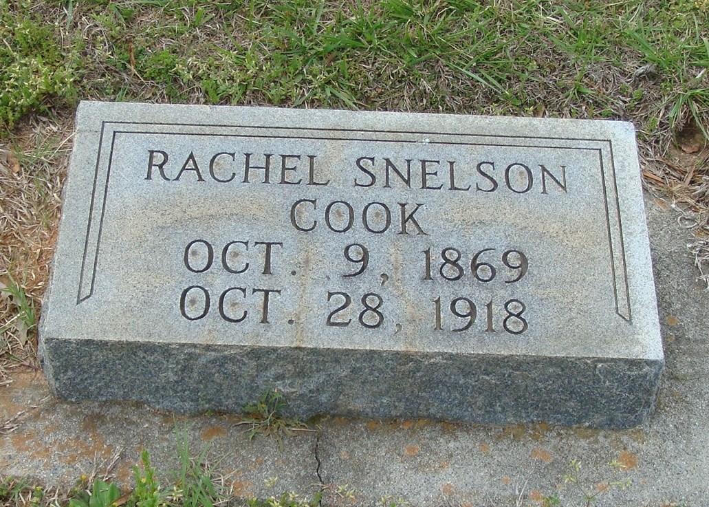 Rachel Lucinda <i>Snelson</i> Cook