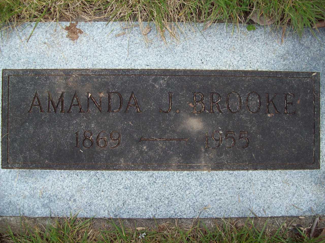 Amanda Jane <i>Adamson</i> Brooke