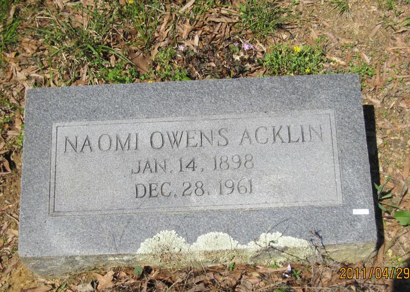 Naomi <i>Owens</i> Acklin