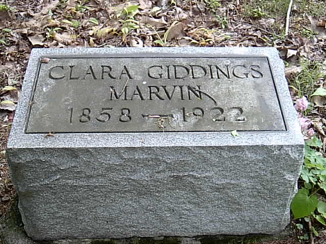 Clara Curtis <i>Giddings</i> Marvin