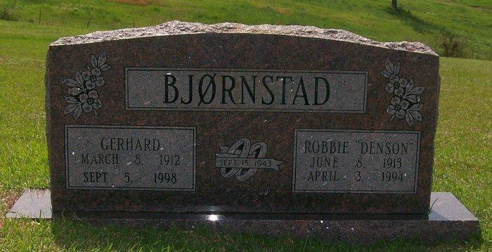 Robbie Dovie <i>Denson</i> Bjornstad