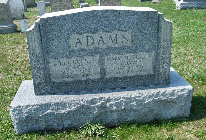 Mary M. <i>Staudt</i> Adams
