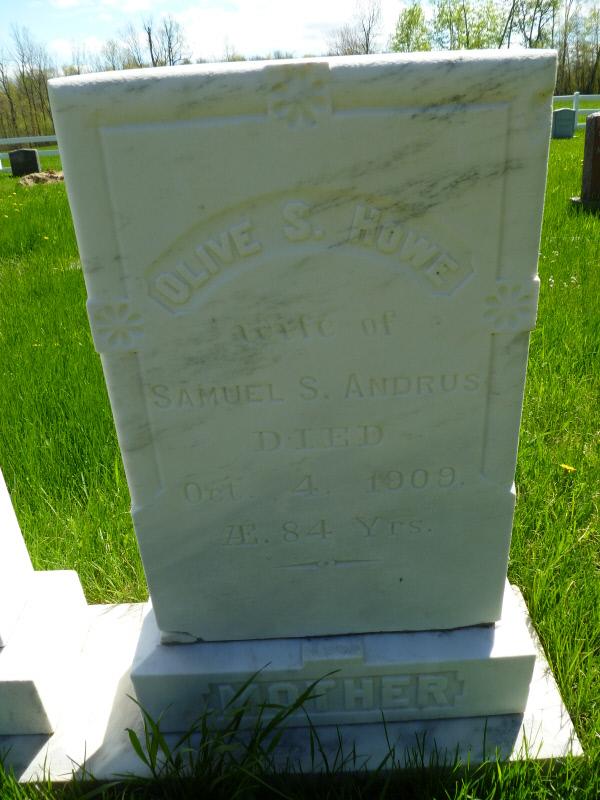 Olive S <i>Howe</i> Andrus