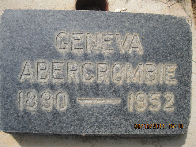 Geneva Elma <i>Grigsby</i> Abercrombie