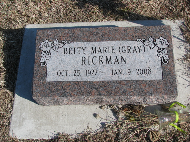 Betty Marie <i>Gray</i> Rickman