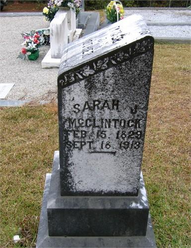Mrs Sarah Jane <i>Kirk</i> McClintock