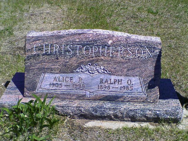 Alice R <i>Olson</i> Christopherson