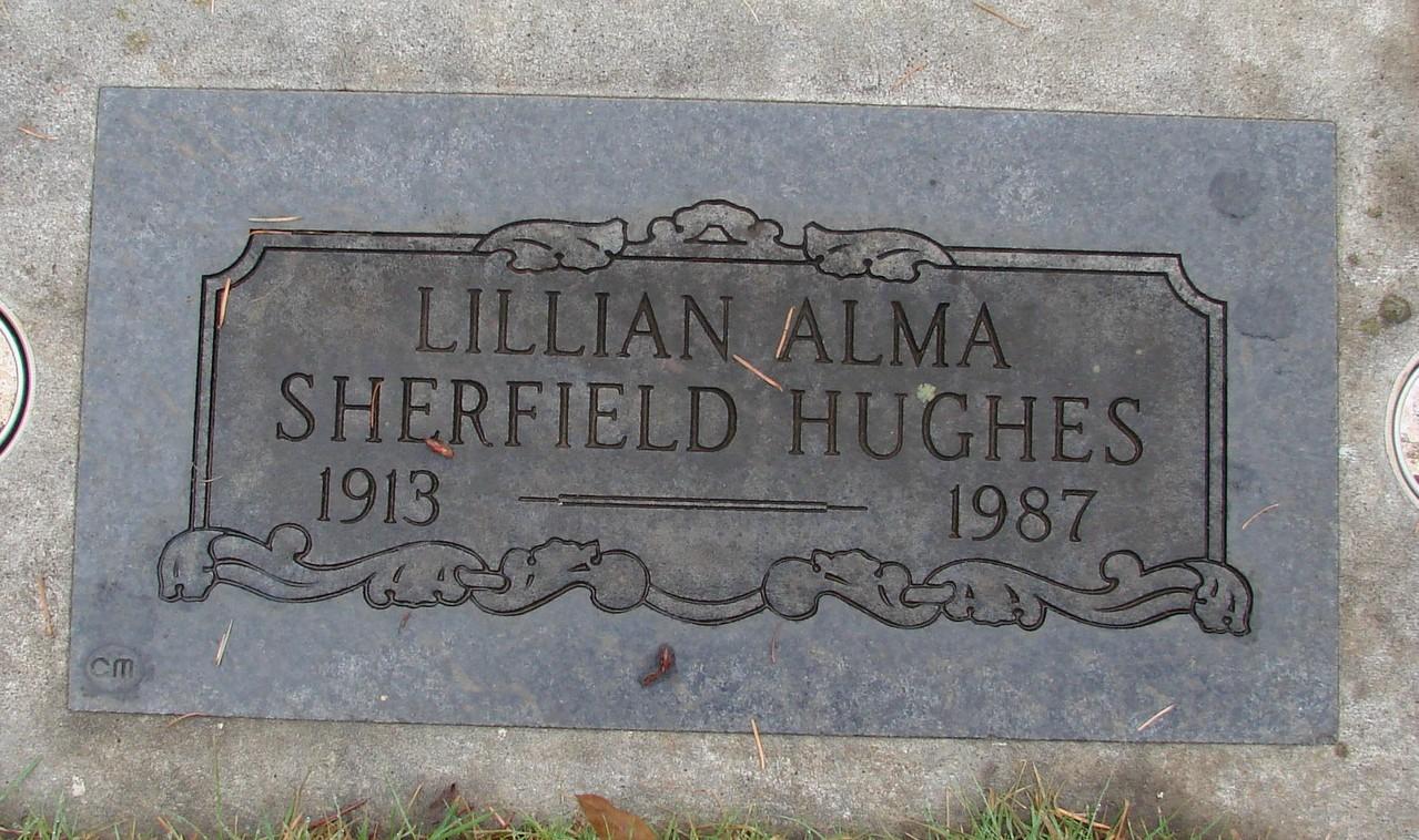 Lillian Alma <i>Sherfield</i> Hughes