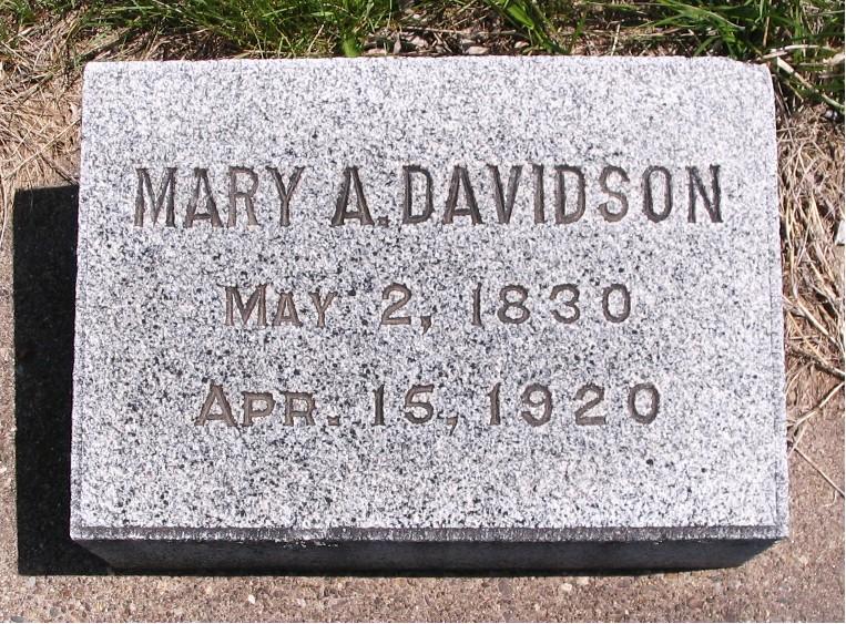 Mary Ann <i>Rankin</i> Davidson