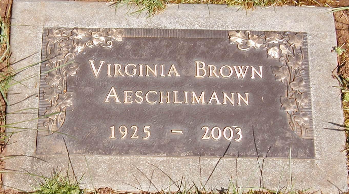 Virginia <i>Brown</i> Aeschlimann