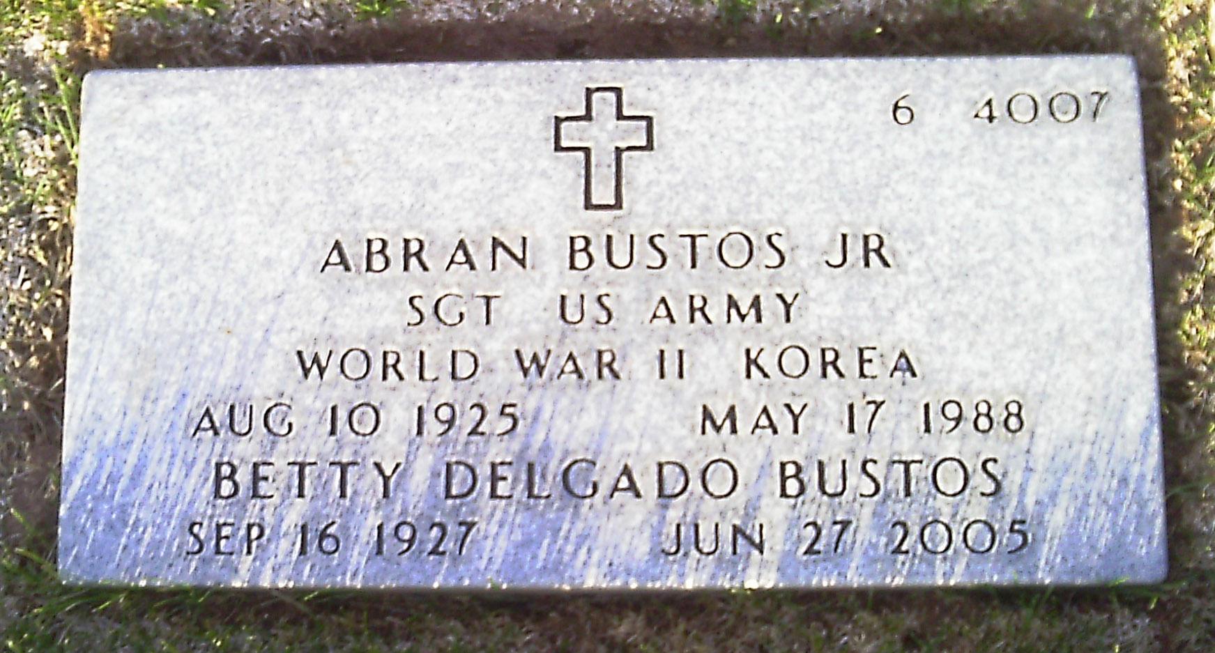 Sgt Abran Bustos, Jr