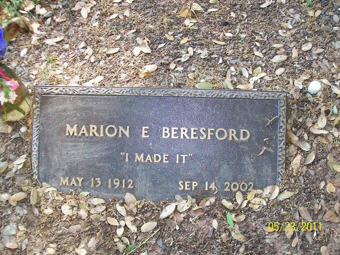 Marion E <i>Burke</i> Beresford