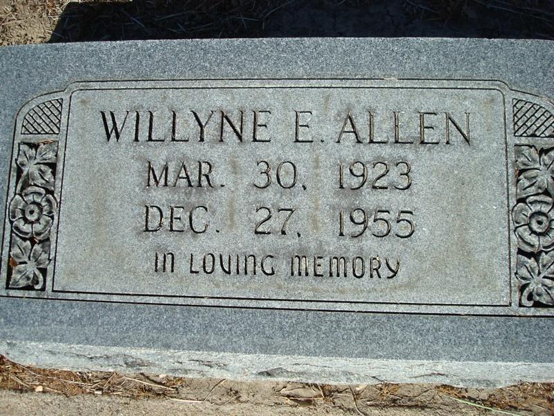 Willyne Elizabeth <i>Ragsdale</i> Allen