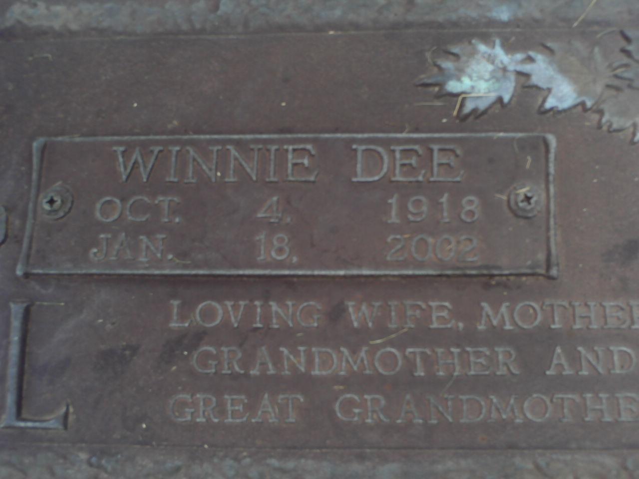Winnie Dee Tidwell
