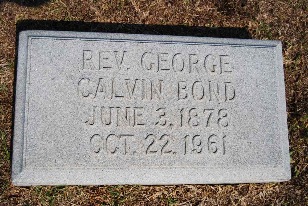 Rev George Calvin Bond