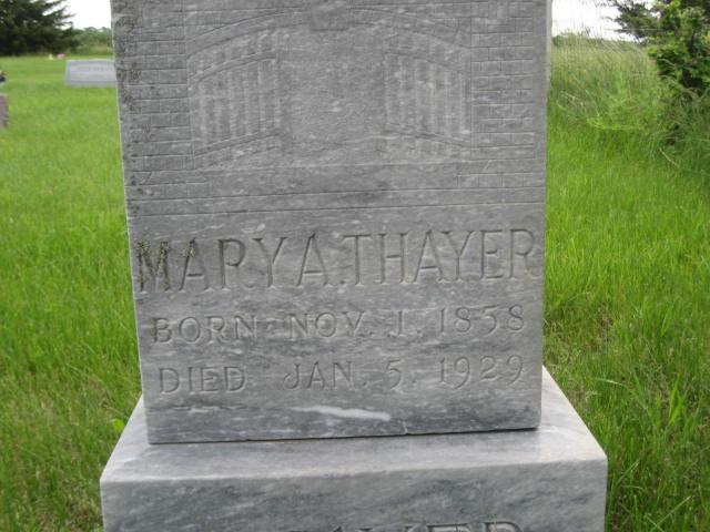 Mary Ann Polly Ann <i>Farrell</i> Thayer