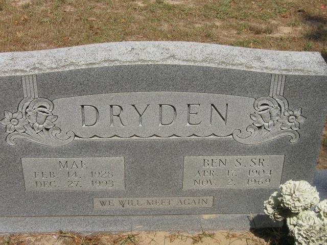 Ben S Dryden, Sr
