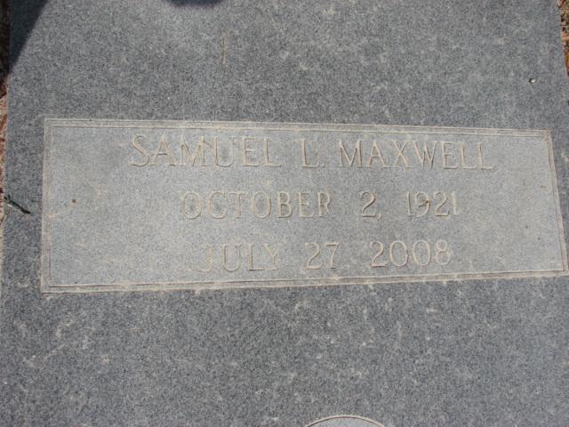 Maj Samuel Loyde Maxwell