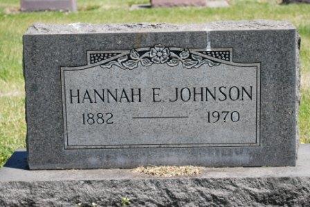 Hannah Elizabeth <i>Thompson</i> Johnson