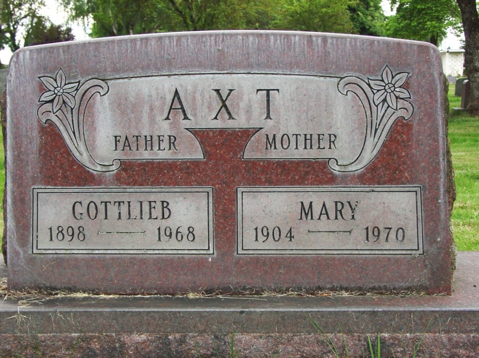 Mary <i>Maier</i> Axt