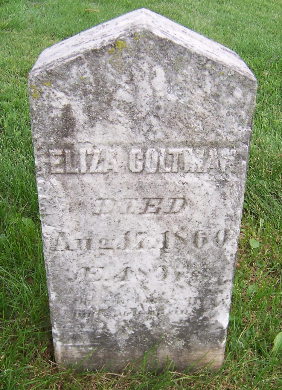 Mrs Eliza <i>Sanderson</i> Coltman
