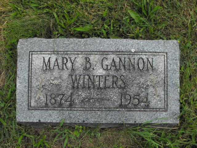 Mary B <i>Winters</i> Gannon