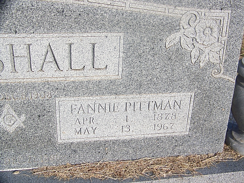 Fannie <i>Pittman</i> Marshall
