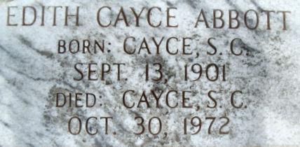 Edith <i>Cayce</i> Abbott